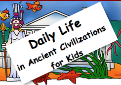 Learn about early humans, Mesopotamia,and ancient life in Egypt, Greece, Rome, China, India and more.