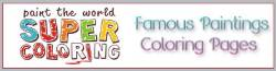 famous paintings colorings. Select from 12949 printable coloring pages of cartoons, nature, animals, human activity, and more.
