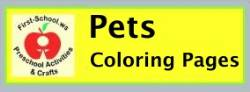 Pets coloring pages (domestic animals) suitable for toddlers, preschool and kindergarten.