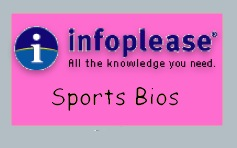 Infoplease has links to all kinds of sports biographies.